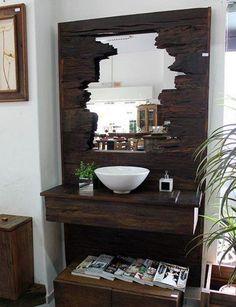 Деревянная тумба в ванную комнату.