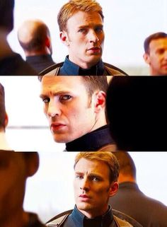 """This elevator scene was intense. """"Before we get started, does anyone wanna get out"""" it's not personal """"yea well it kinda Feels personal"""" Captain America And Bucky, Captain My Captain, Steven Grant Rogers, Steve Rogers, Capitan America Chris Evans, Captain Rogers, Robert Evans, Bucky Barnes, Winter Soldier"""