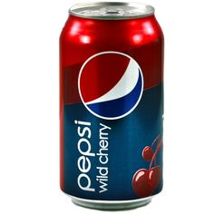 Not surprisingly, to fight against the big boys, Pepsi has a much larger product offering in the US, including their cherry-flavored soda, Wild Cherry Pepsi. Description from mylittleamerica.com. I searched for this on bing.com/images