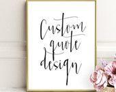 Personalized prints, custom handwriting, Custom Quote, Print Custom print quote, custom, Lyrics custom, custom printable, Custom Typography