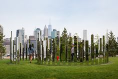 Art Outside - Jeppe Hein's Please Touch the Art at Brooklyn Bridge Park-Wmag