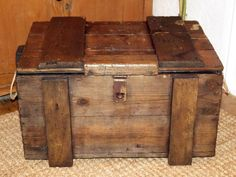 VICTORIAN 19th Century STAINED PINE BOX