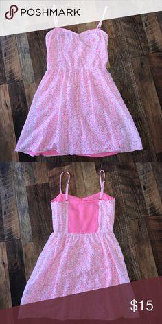 Pink Lace Dress Cute summer dress. Removable straps Aeropostale Dresses Mini