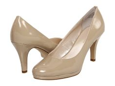 Anne Klein 7Wystere Light Tan Patent Synthetic - 6pm.com