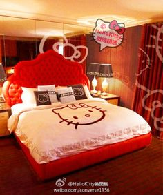 Hello Kitty Bed Room - pinned just for you @Gina Giampaolo Colosimo