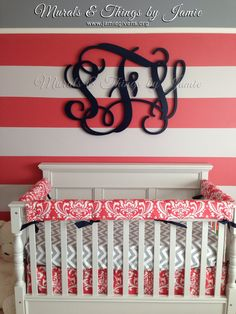 Another monogram I made for baby Scarlett in Maryland. www.jamiegivens.org for more information.