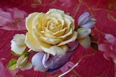 """Купить Ободок """"Эмили"""" - комбинированный, украшения ручной работы, украшение для невесты, украшение для волос"""