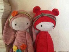 RITA the rabbit & BINA the bear made by Patricia M.-I. / crochet patterns by lalylala