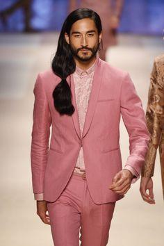ideas for fashion illustration men face male models Fashion Week, New Fashion, Runway Fashion, Fashion Models, Milan Fashion, Dandy, Tony Thornburg, Runway Hair, Runway Makeup