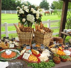 Wedding Cocktail Hour Display | ... setting... gorgeous cheese and charcuterie display for cocktail hour