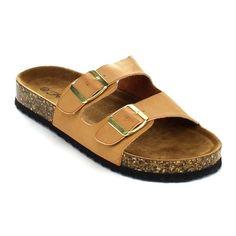 Forever Jezebel-33 Women's Double Vamp Strap Casual Flat Sandals