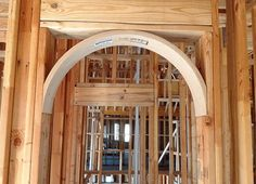 With our half circle arch kits, prefabricated and made to your measurements, you can install an arch easily. Try a Tuscan or Spanish arch. Home Building Tips, Building A House, Dome Ceiling, Ceiling Lights, Make Build, Painting Trim, Arched Windows, Half Circle, Easy Install
