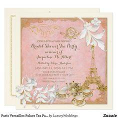 Paris Versailles Palace Tea Party Bridal Shower Card