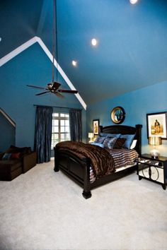 Bedroom Idea - Blue master bedroom - open and airy