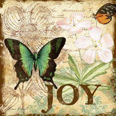 Joy And Butterflies Digital Art  - Joy And Butterflies Fine Art Print