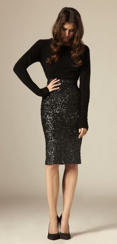 fa5dec61e65 Black sequins top and simple black fitted top. Great for a holiday party. ❤