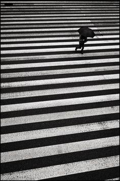 dramatic, high-contrast black-and-white photo of Tamachi, Tokyo, 2012 (via Shin Noguchi). Black N White, Black White Photos, Black And White Photography, Street Photographers, Belle Photo, Monochrome, Tokyo, Art Photography, Pictures