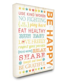Look at this #zulilyfind! The Kids Room by Stupell 'Be Happy' Wrapped Canvas by The Kids Room by Stupell #zulilyfinds