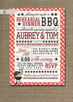 BBQ Rehearsal Dinner Invitation Country by digibuddhaPaperie, $23.00