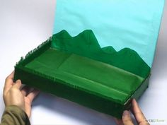 How to make a diorama for school.