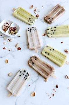 choc hazelnut & pistachio nut milk creamsicles with boba pearls//