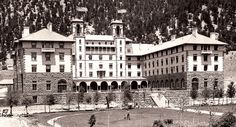 """Historic Hospitality    In 1893, Hotel Colorado arrived on the scene during a thrilling time in the history of America's West. With its European fashioned spa, the resort surfaced onto a land of prosperity; to serve the wealthy, to house the ailing, to offer a playground to society's elite. The Hotel Colorado's originator, Walter Devereux, spared no expense in the creation of the """"Grande Dame."""""""