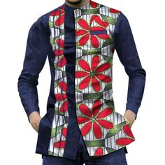 African Dashiki Patchwork Print Shirt Tops African Wear Styles For Men, African Shirts For Men, Ankara Styles For Men, African Dresses For Kids, African Attire For Men, African Wear Dresses, African Clothing For Men, African Dashiki, African Fashion Ankara