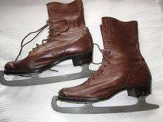 Vintage Victorian ice skates