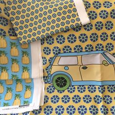 Loving pineapples and minis even more! Wheels up collection. #fabric #fabrics #sew #sewing #misschiffdesigns  #crafty #quilt #quilting #homedecor #interior #pattern #fabric #fabrics #diy #diyfashion #twitter #wrappingpaper #illustrator #decoration #fabricdesigner #mailartist #homedecor #repeatpattern #printdesign #surfacedesign  #spoonflower #interiordesign #maker  #floral  #spoonflowered