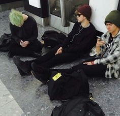 If I saw them like this somewhere I think I would just sit by them to see what would happen.