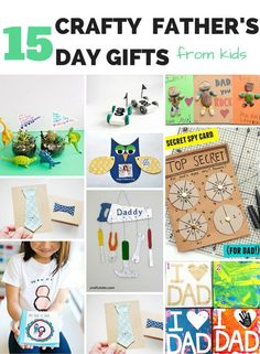 15 Crafty Father's Day Gifts from Kids. Cute hamdmade Father's Day crafts for kids!