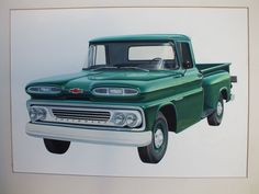 1960 Apache drawing for Chevy marketing purposes. Ultimately not used...too bad!