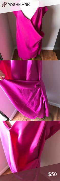 ASOS Curve Fuchsia Dress Sz 20 NWT New with tags! Zipper back. Cute dress! ASOS Curve Dresses Midi