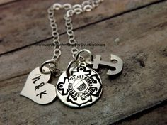 Coast Guard Necklacehand stamped by mybeadedbutterfly on Etsy, $35.00