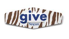 Nexcare™ Give 2011 Limited Edition Zebra bandage