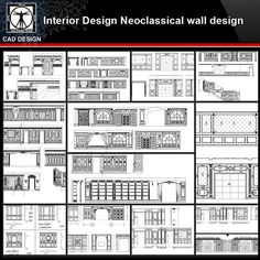 ★【Interior design Neoclassical wall design kinds of Neoclassical wall design CAD drawings Bundle Renzo Piano, Cathedral Architecture, Architecture Details, Famous Architecture, Best Door Designs, Le Corbusier, Wall Design, Ceiling Design, Structural Drawing