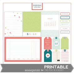 Bananafish Studio August Printables