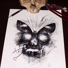 Acab Tattoo, Tattoo Dotwork, Blue Tattoo, Tatoo Art, Tattoo Drawings, Art Drawings, Drawing Art, Tattoo Motive, Yakuza Tattoo