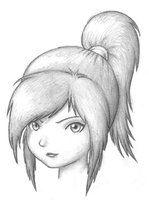 Anime girl face by ~PaperCutlass on deviantART