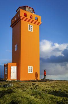 Svörtuloft Leuchtturm, Island . Iceland