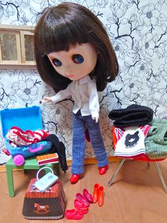 https://flic.kr/p/DSEVzT | Packing | Audrey wonders which red shoes & boots she should take and how much room is left in her case...