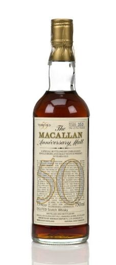 This bottle of 50 year old Macallan whisky sold in New York, for $21,420. It is bottle 353 of only 500 ever produced.