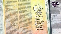 Masking Fluid and Stamping - Bible Art Journaling Challenge Week 49