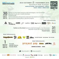 EPICdays 2015 bersama Adji Notonegoro dan Ivan Gunawan  30 Oktober - 1 November 2015  Organized by KADEKA Enterprise