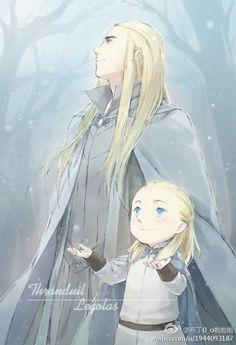 Thranduil & Legolas by 烛原