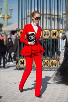 The Best Street Style Inspiration & More Details That Make the Difference #womenpantssuits