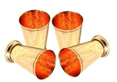 Hammered Copper Mint Julep Cup Hammered Copper Moscow Mule Julep Cup Set of 4 #Buddha4all