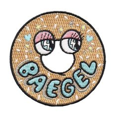 A collab with our favorite LA bagel joint Yeastie Boys! The BAEGEL patch is a badass sticker that adheres to clothing, your guitar, your laptop. x Patch Pin And Patches, Iron On Patches, Patch Shop, Free Sewing, Needlework, Badge, Product Launch, Valentines, Stickers