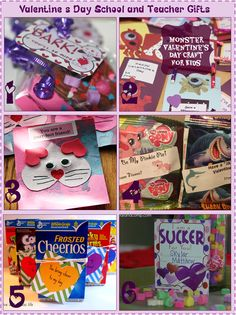 Valentine's Day School and Teacher Gifts    The free printables, recipes, and suggestions in the following posts will help you make unique and unforgettable Valentines for your child's Teachers and Classmates!