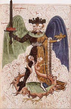 Alchemy:  Le livre de la sainte trinité_circa 1400.  An Alchemy artwork.